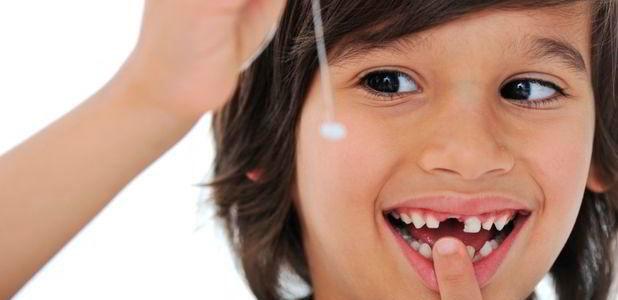 Os dentes de leite